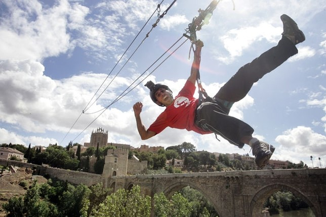 Tirolina en Toledo despedidas